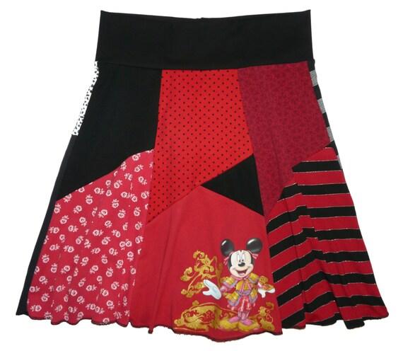 disney minnie mouse hippie skirt boho chic s large