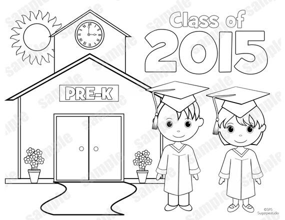 INSTANT DOWNLOAD Printable PRE-K Graduation by SugarPieStudio