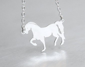 Horse Necklace Sterling Silver