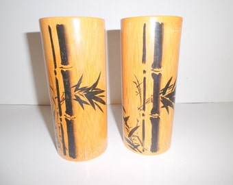 Real Vintage Bamboo wood Tumblers