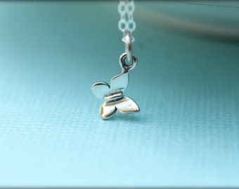 Tiniest Butterfly Necklace in Sterling Silver