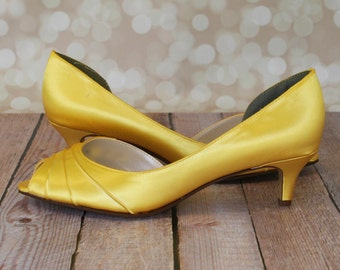 yellow kitten heel – Etsy