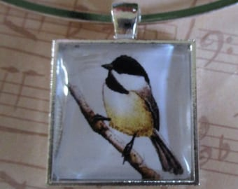 Chickadee Pendant or Scarf Slide, scarf jewelry, scarf ring