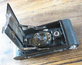 Kodak No.2 Folding Autographic Brownie Camera in Original Leather Case 1914