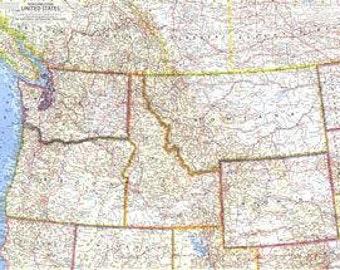 United States NorthWestern Map 1960