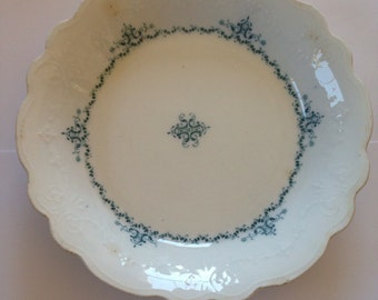 WH Grindley Manila Pattern Coupe Soup Bowl 1890