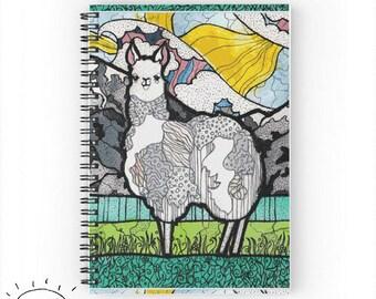 Llama Notebook, Llama Journal, Llama Gifts, For Llama Lovers, Llama, Cute Llama Gifts, Llamas, For Llama Owners, Llama Work Gift