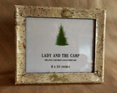 Reserved for Josh - 8x10 Maine Birch Bark Picture Frame