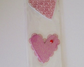 Raised Heart Stickers