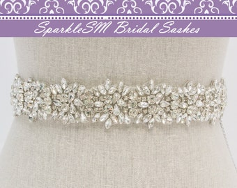 Bridal Sash, Crystal Sash, Bridal Belt, Bridal Dress Sash, Rhinestone Sash, Wedding Bridal Sash Bridesmaids Sash Swarovski Sash Crystal Belt