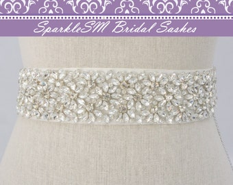 Rhinestone Crystal Bridal Belt Sash, Wedding Sash Belt, Bridal Accessory, Crystal Belt Sash Bridal Sash Belt, SparkleSM Bridal Sash, Quinn