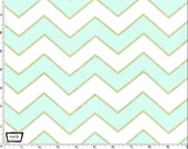 Mist Chic Chevron Pearlized From Michael Miller's Glitz Collection