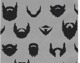 Gray Brilliant Beards From Robert Kaufman