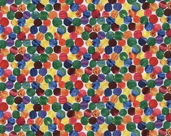 ANNIVERSARY SALE (Yardage Only) -The Very Hungry Caterpillar Abstract Dots From Andover Fabrics by Eric Carle