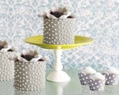Cake Pedestal Stand / Chartreuse Cake Stand Pedestal / Dessert Pedestal in Lime Green