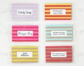 Kids Luggage Tag Custom Striped Stripes Boys Girls Diaper Bag Tag Personalized Family Luggage Tags Hostess Gifts Destination Wedding Favors