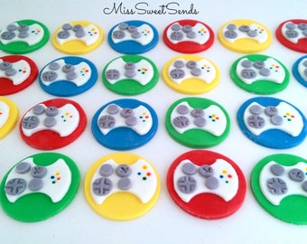 Game controller topper , video game topper , controller topper , video game cupcake topper
