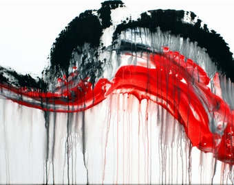 Clearance Sale: Abstract Original Handpainted Acrylic Thick 3d Texture Impasto Palette Knife Painting. Size 24 x 36