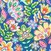 Fabric by the yard Fiesta collection by Michael Miller Esme in Blue 1 yard