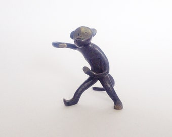 Vintage brass monkey FUNKY friend, his name is Filipp. Use him for shadow boxes, home decor, mixed media art...