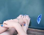 Turquoise Bracelet - Art Jewelry - Jewelry - Blue Bracelet - Origami Jewelry - Paper Boat - Designer Bracelet (14-1B)