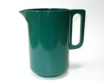 Dansk Vintage Melamine Plastic Green Water Pitcher Utensil Holder Rosti Style 1 QT / Liter