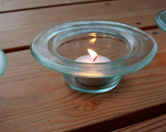 Reclaimed Glass Candle-Holder