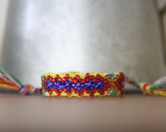 Crystal Friendship Bracelet (Yellow Red Blue Colour)