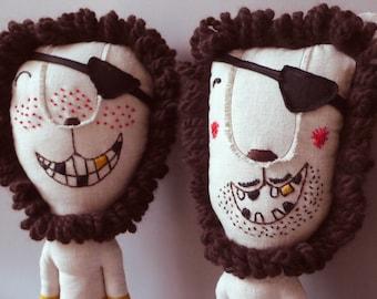 Mr. Lion Pirat 211 - Lion Plush Soft Toy stuffed Doll Plushie Softie