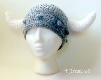 Viking Hat (All sizes available) Dark grey viking hat