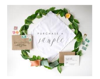 Handkerchief Invitation Sample