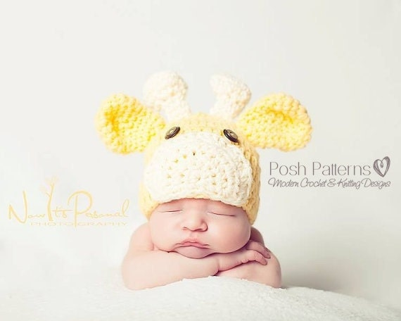 Crochet Hat PATTERN - Giraffe Hat Crochet Pattern - Crochet Patterns for Baby - Includes Baby, Toddler, Child, Kids, Adult Sizes - PDF 175