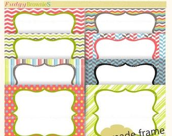 ON SALE Clip art frame, premade cards, invititation cards , Frames clip art,  frames white background inside P-09 , Instant Download