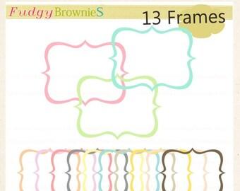 ON SALE Digital frame, Square Frames clipart, digital scrapbooking frames.A-67, Instant Download