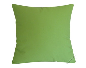 Organic Avocado Green Decorative Throw Pillow Cover / Pillow Case / Cushion Cover / Cotton / 18x18""