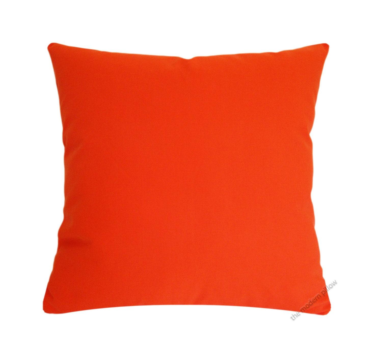 Solid Orange Decorative Pillows : Orange Solid Cotton Decorative Throw Pillow Cover / Pillow
