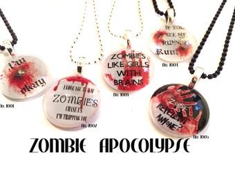 Zombie Apocolypse Custom Crafted Pendants