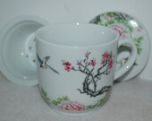 Japanese Chinese Oriental Tea Cup with Infuser and Lid