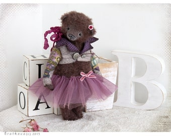 Bear Teddy Bear Natalie 10 inch OOAK