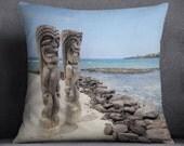 Hawaii pillow cover - pillow cover - Hawaii accent pillow cover - City of refuge Hawaii pillow cover - beach pillow cover - Hawaii