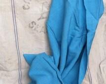 Retro Aqua Linen Fabric Yardage - Vintage swing Material, Dark Aqua Sewing Linen, Sewing Fabric, Dress Making Fabric, Home Decor, 2.5 Yards