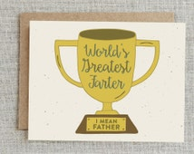fathers day trophy card popular items for joke card on etsy 4450