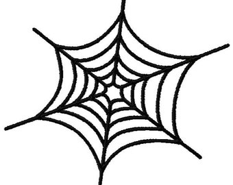 Spider Web Embroidery Design - Instant Download