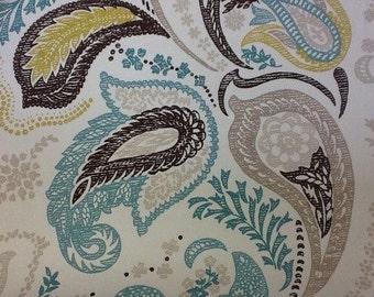 Ashley wilde naples in aqua designer fabric by the metre