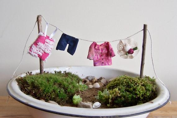 Jard n de hadas beachcomber accesorio tendedero con ropa - Tendedero de jardin ...