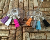 Tassel Wine Charms - mix and match colors!