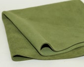 OIive Green Suede, Genuine Leather,