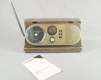Pierre Cardin Electronique, Series 1, AM/FM Quartz Travel Clock Radio