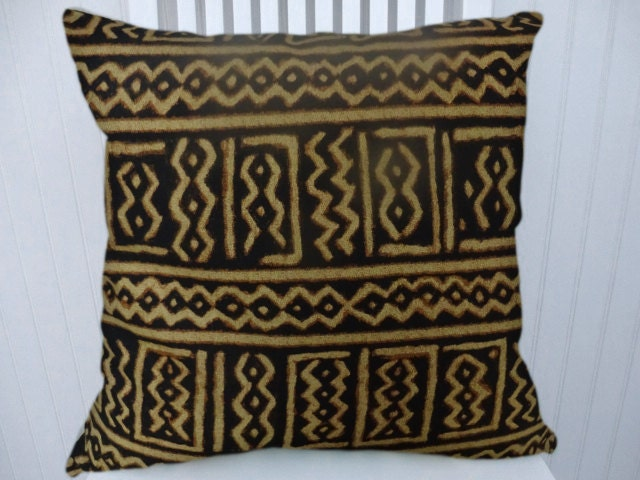black gold pillow cover decorative throw pillow cover 18x18. Black Bedroom Furniture Sets. Home Design Ideas