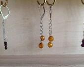 Autumn mustard ocre yellow earrings